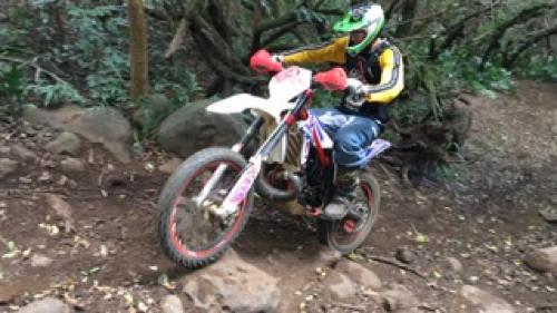 Will Sheehan riding a dirt bike