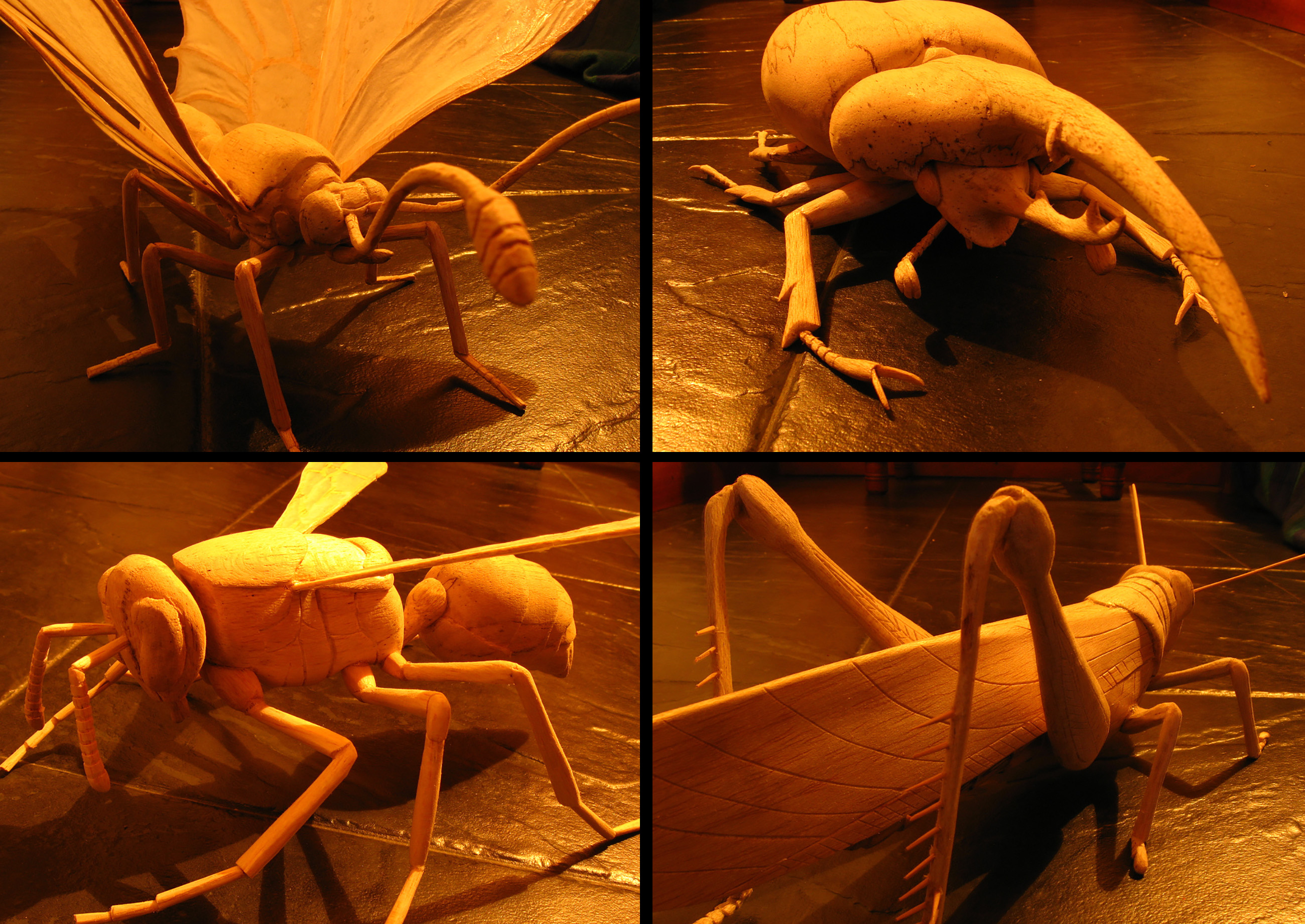 Insect sculptures by Duke biologist Alejandro Berrio.